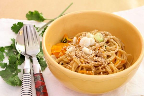 Livefit Rezept: Spaghetti mit Kokosmilch