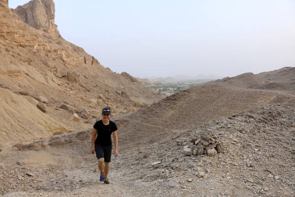 Wandern Jebel Hafeet, Al Ain, VAE