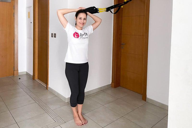 beste Sling Trainer Bauchübung - C-Position