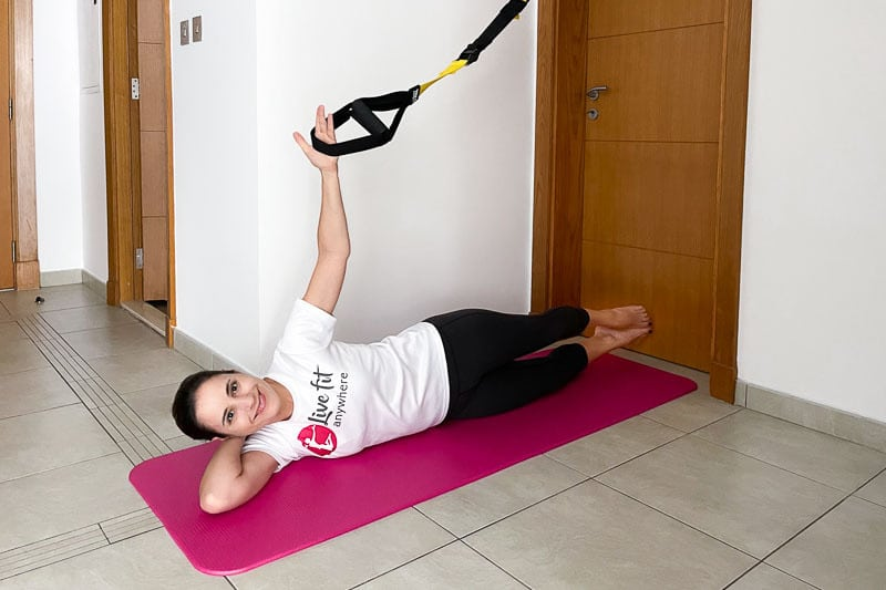 beste Sling Trainer Bauchübung - Double Leg Lift
